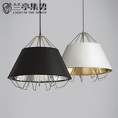 98.80$  Buy here - http://alip9l.worldwells.pw/go.php?t=32648943573 - Nothern Europe Retro Metal Pendant Lamp Smoothly Simple Restaurant Light Bar Light D210MM Free Shipping 98.80$