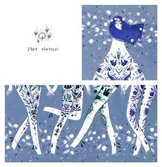 And we should think about a blue dye print version for trousers from our pattern!  I want to do that for so long.  Praf de Zâne | Fairy Dust madalina andronic illustration