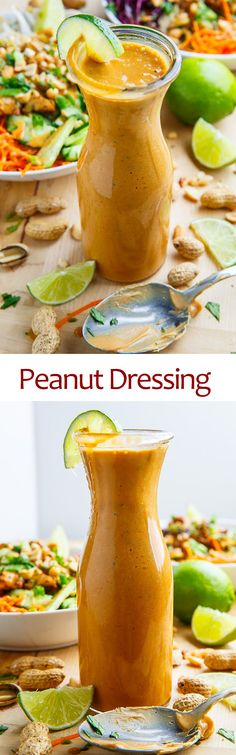 Thai Peanut Dressing - A quick and easy Thai-style peanut dressing that is irresistibly delicious!