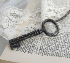 Skeleton Key Necklace - 10.00 by cristina