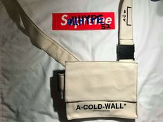 c9e85915ba A Cold Wall Canvas Shoulder Bag ACW Off-White in Biege one size  fashion