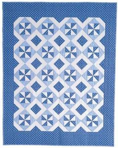 Friday Freebie: Blue Breeze Classic Lap Quilt Pattern