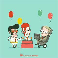 Elvis Presley, David Bowie y Stephen Hawking birthday (January 8)