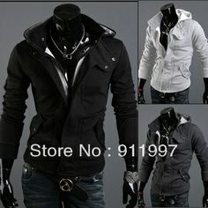 2013 Winter Hot sale! New coats men outwear Mens Special Hoodie Jacket Coat clothes cardigan style Men's Sweater $13.88