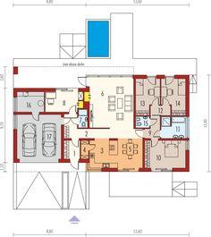 DOM.PL™ - Projekt domu AC EX 11 G2 (wersja D) MULTI-COMFORT CE - DOM AF7-47 - gotowy koszt budowy Floor Plans, House, Floor Plan Drawing, House Floor Plans