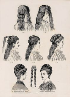 FlouncedLucia Trendfrisuren Joe, akkurater Mittelscheitel oder People from france Cut Cease to live Frisurentrends Historical Hairstyles, Edwardian Hairstyles, Vintage Hairstyles, 1800s Hairstyles, School Hairstyles, Prom Hairstyles, 1870s Fashion, Victorian Fashion, Pelo Vintage