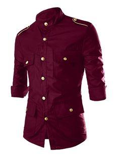 d3831211d jersivy Fashion Men s Shirts Online Shop-. Quarter SleeveSlim ...
