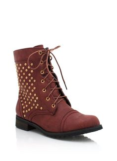 studded combat boots $33.95