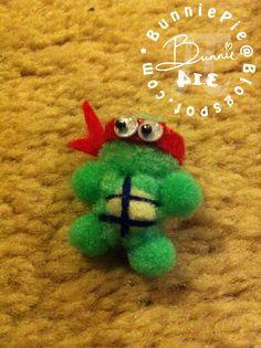turtle pompom craft   Teenage Mutant Ninja Turtles...Pom Pom Edition!