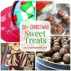 20+ Christmas Sweet Treats for your holiday baking needs! www.cookingwithk.net
