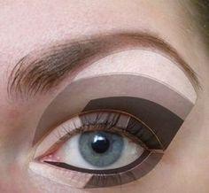 макияж для увеличения глаз пошагово