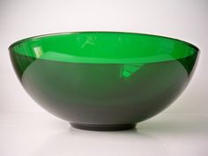 1950s Vintage Large Dark Heavy Glass Christmas Tree Green Holiday Serving Bowl for Christmas or New Years Entertaining by VintageFindsbySuzi on Etsy