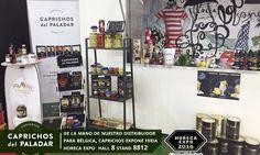 Caprichos del Paladar exhibe en la Feria de  Horeca Expo en Gante (Bélgica ) de la mano de nuestro Distribuidor