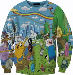 Hey, I found this really awesome Etsy listing at https://www.etsy.com/listing/175705922/adventure-time-sweater-crewneck