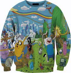 Adventure Time Sweater Crewneck Sweatshirt by YeahWhateverz, $59.87