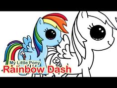 How to Draw MLP Rainbow Dash Cute and Easy