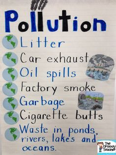 Pollution Anchor Chart