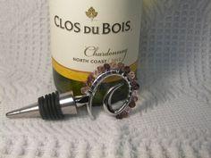 Wine Stopper Pink to Burgundy Colored Swarovski by GagaGems, $15.00