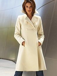 Victoria Secret VIA Empire-waist Double-Breasted wool coat Winter