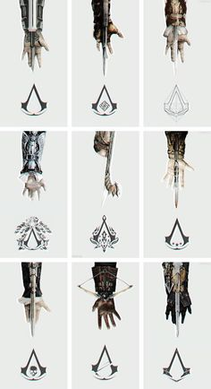 Assassins creed Hidden Blades Any of the hidden blade replicas - I have the… Assassins Creed Tattoo, Arte Assassins Creed, Assassins Creed Origins, Assassins Creed Quotes, Assassins Creed Odyssey, Video Game Art, Video Games, Assasins Cred, Assassin's Creed Hidden Blade