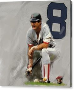 Yaz Carl Yastrzemski Art Print by Iconic Images Art Gallery David Pucciarelli. All prints are professionally printed, packaged, and shipped within 3 - 4 business days. Choose from multiple sizes and hundreds of frame and mat options. Red Sox Baseball, Baseball Art, Baseball Stuff, Boston Sports, Boston Red Sox, Star Trek Posters, Red Sox Nation, Thing 1, Sports Art