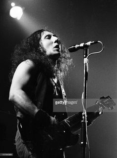 Guitarist Mick Box from Uriah Heep performs live on stage in Amsterdam, Netherlands in 1974.
