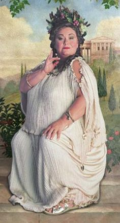 Fat Lady Portrait...a I true comic genius...Dawn French