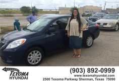 https://flic.kr/p/ygjd1n | Congratulations Alisia on your #Nissan #Versa from Randy Hollingsworth at Texoma Hyundai! | deliverymaxx.com/DealerReviews.aspx?DealerCode=L967