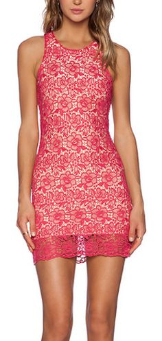 Beautiful pink lace mini dress http://rstyle.me/n/qg3mdnyg6