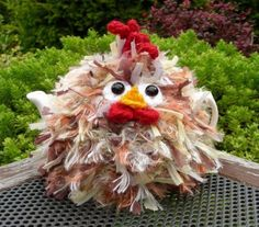 Hand Knitted (to my own design) Fluffy Chicken Tea Cosy – for small 2 cup teapot. Handmade Chicken tea cosy knitted in a nylon/acrylic/polyester shaggy yarn and 100% wool contrast (for extra thickness). | eBay!
