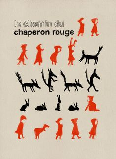 Le chemin du chaperon rouge by Etsy seller milimbo