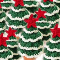 Mini Christmas Tree, Free Crochet Pattern, Christmas Decorations, DIY, - Another! Knitted Christmas Decorations, Christmas Tree Pattern, Crochet Christmas Ornaments, Mini Christmas Tree, Christmas Knitting, Free Christmas Crochet Patterns, Christmas Island, Xmas Decorations, Crochet Tree