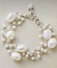 Pearl Jewelry, Beaded Jewelry, Jewelry Bracelets, Pearl Bracelets, Pearl Rings, Jewellery, Pearl Necklaces, Strand Bracelet, Handmade Bracelets
