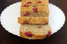 Raspberry Coconut Bread  1/4 C (60ml) unsweetened applesauce 1 1/4 cups (295 ml) non dairy milk (see note) 1 teaspoon (5 ml) vanilla extract 2 1/2 cups (315 grams) all-purpose flour heaping 1/4 teaspoon table salt 2 teaspoons (10 grams) baking powder 1 tsp baking soda 1 tsp ground cinnamon 1 cup (200 grams) granulated sugar 5 ounces (140 grams) sweetened flaked coconut (about 1 1/2 cups) 1 Tbsp lemon juice or vinegar 1/4 C + 2 Tbsp vegetable oil 3/4 C (about 6 oz) fresh raspberries