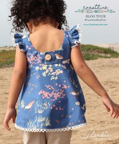 The Pensacola Beach Petal Top by Seaside Notions Pattern for the Coastline Fabrics Blog Tour