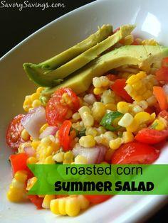 Roasted Corn Summer Salad on MyRecipeMagic.com