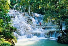 Dunn Falls Jamacia - We went here on a cruise in college, our first trip together. And we climbed this waterfall!