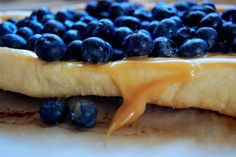Blogging Foods: Dulce de Leche and Blueberry Dessert Pizza