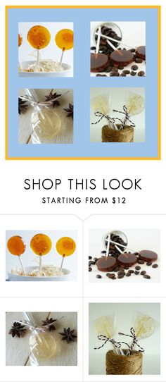 """Homemade All Natural Lollipops"" by funnfiber ❤ liked on Polyvore featuring interior, interiors, interior design, home, home decor, interior decorating, Hard Candy and ANISE"