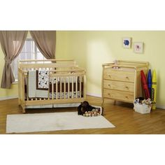DaVinci Emily 4 in 1 Crib Natural with Toddler Rail