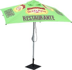 Cafe Umbrellas - 5 STAR Features 1.Strong canopy attachment to frame; 2.Reinforced aluminium ribs for greater strength in high wind environment; 3.stainless steel double pulley with rope for EASY set up; 4.U-shape hook pin for hanging rope out of harm's way; 5.Hole settings for controlling canopy tension