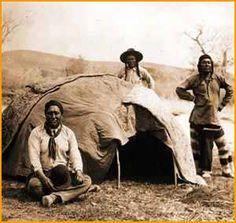 Ojibwe sweat lodge.