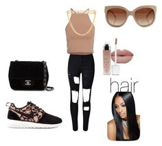 """""""coolin day"""" by shayla-nikole on Polyvore featuring NIKE, NLY Trend, Chanel, STELLA McCARTNEY and Moschino"""