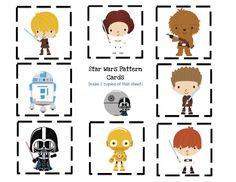 Star Wars pattern cards.