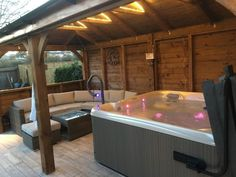 Atlas Open Gazebo x Hot Tub Gazebo, Hot Tub Backyard, Hot Tub Garden, Garden Bar Shed, Pool Gazebo, Backyard Pools, Pool Decks, Pool Landscaping, Hot Tub Room