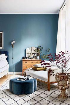 blue bedroom walls. / sfgirlbybay