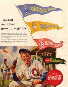 Did you know that Coke and baseball grew up together? They're practically like BFFs!