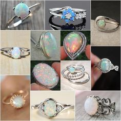 White Fire Opal 925 Sterling Silver Gems Women Jewelry Ring Size 5 6 7 8 9 10 11