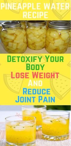 This Pineapple Water Will Detoxify Your Body, Help You Lose Weight And Reduce Joint Swelling And Pain