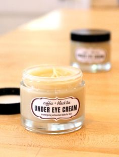 This coffee & black tea under eye cream is an energizing antioxidant balm that's perfect for tired eyes and skin. Made with anti-inflammatory coffee essential oil and antioxidant rich darjeeling tea, this coffee & black tea under eye cream recipe helps to blur the appearance of fine lines and wrinkles while also lending its nourishing antioxidant skin care properties.
